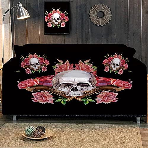 Funda Elástica para Sofá ImpresoRosa 3 Plaza Universal Funda Cubre Sofas Ajustables Antideslizante Decorativas Protector Sofa de Muebles (195-230cm)
