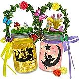 Fairy Lantern Craft Kit for Girls - Kids Lantern of Fairy Toys, DIY Fairy Garden Kit for Kids Ages 6-12 Crafts, The Fairy Lantern Jar Night Light ,Gifts for Fairy Birthday Decorations