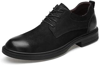 [CHENJUAN] 靴メンズビジネスカジュアルオックスフォード快適なワニ柄ロートップレースアップビッグサイズフォーマルシューズ(スムーズブラック、スエードブラック、従来はオプションです)