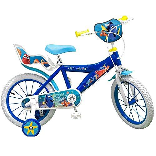 GUIZMAX Vélo Enfant 16 Pouces Le Monde de Dory et Nemo Licence Officielle Disney