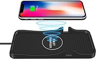 Wireless car Charger pad,10W Qi Fast Wireless Phone Charger for Car, Dashboard & Desk Wireless Charging Pad for iPhone and Samsung and All Other Qi Enabled Devices