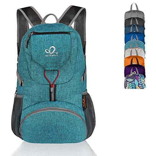 WATERFLY Wanderrucksack 20L, Ultraleicht Outdoor Rucksack Faltbar Wasserdicht Multifunktionaler Daypack für Radfahren Reisen Klettern Sport