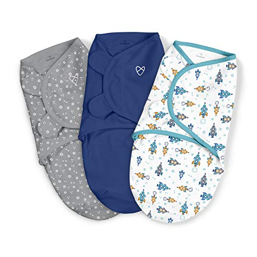 SwaddleMe Original Swaddle – Size Large, 3-6 Months, 3-Pack (Superstar )