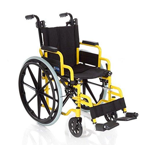 Sedia a rotelle per bambini colorata, robusta e pieghevole