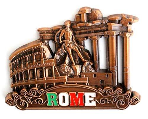 ROMA - Imán de metal para nevera, frigorífico o cocina de diseño único. Rome Fridge Magnet