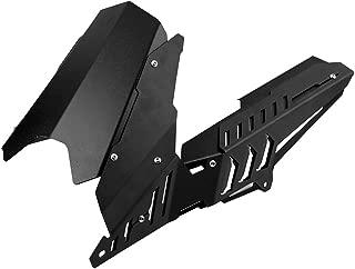 Fydun CNC Motorcycle Rear Fender Mudguard & Chain Guard Cover Kit for Yamaha YZF R3 R25 13-17 (Black)