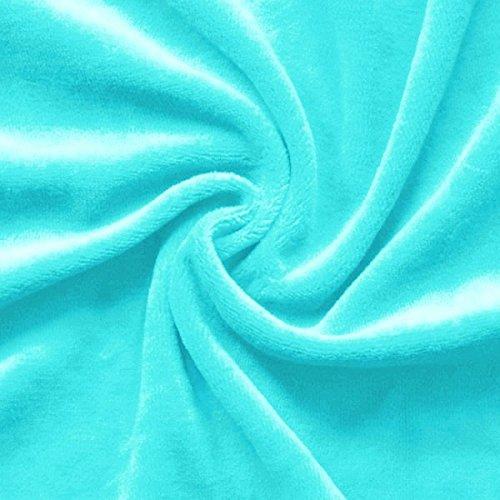 STOFFKONTOR Nicki Baumwollstoff Stoff - kuschelweicher Wohlfühlstoff, Kinderstoff - Meterware, Himmel-blau - zum Nähen von Kinderkleidung, Hausanzügen, Kissen
