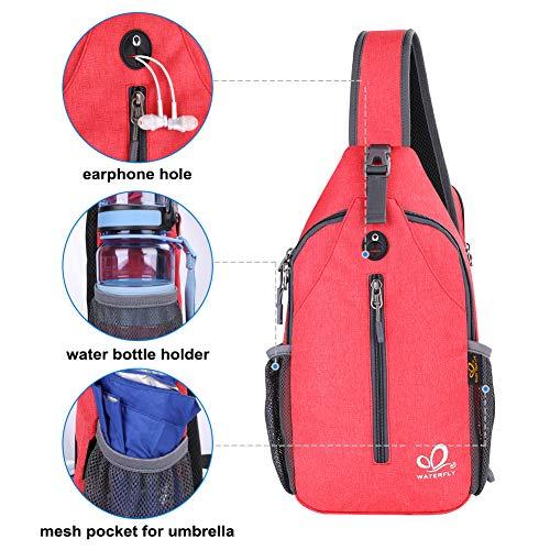 Waterfly Crossbody Sling Backpack Sling Bag Travel Hiking Chest Bag Daypack
