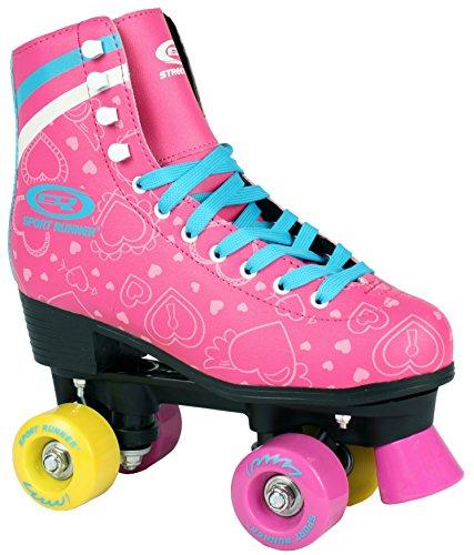 Sell-tex Kinder Rollschuhe 34 35 36 37 38 NEU Discoroller rosa Rollerskates Inliner ABEC-5 (39)