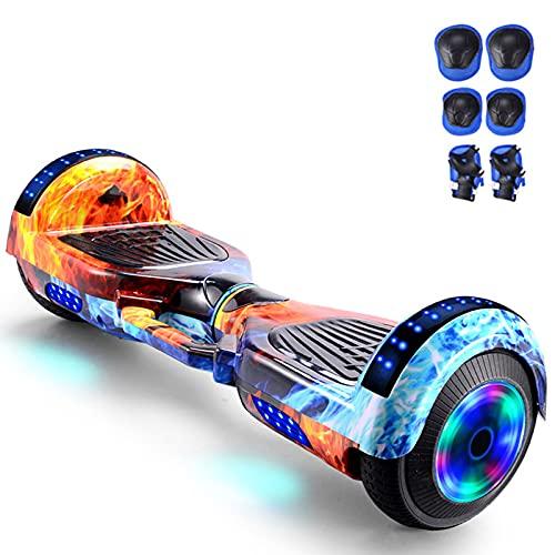 RENSHUYU Hoverboards avec de Belles lumières LED, avec Haut-Parleur Bluetooth à Roue Lumineuse, Hoverboards pour Enfants et Adolescents et Adultes