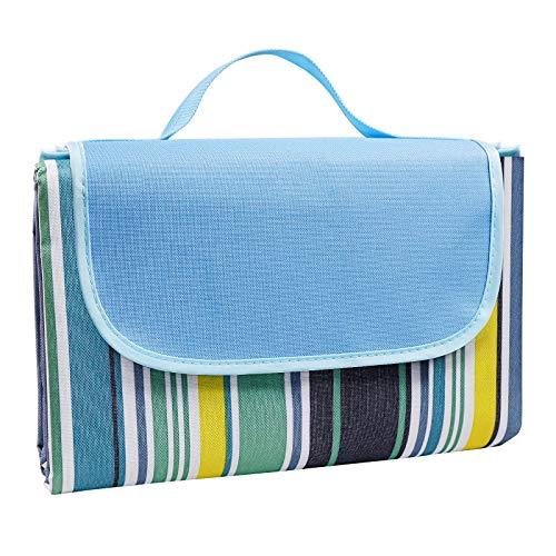 Youley Manta de pícnic impermeable para la playa, 200 x 200 cm, para exteriores, para playa, camping, picnic, parque, playa