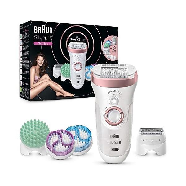 Braun-Silk-pil-9-9990-SkinSpa-Depiladora-Mujer-Elctrica-con-Tecnologa-SensoSmart-con-13-Accesorios-Exfoliacin-Masaje-Afeitadora-Recortador