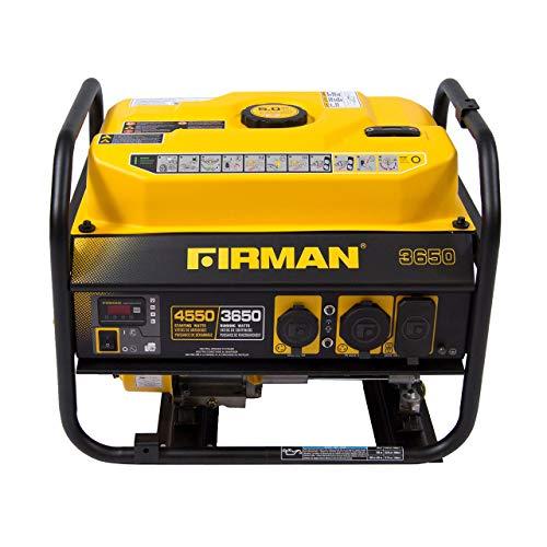 Firman P03601 4550/3650 Watt Recoil Start Gas tragbarer Generator cETL zertifiziert, schwarz