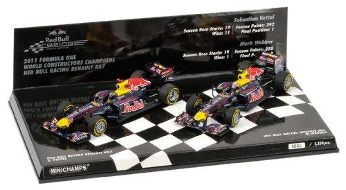Red Bull Racing Modellauto RenaultRB7, Maßstab1:43,F1Champions, 2er-Set