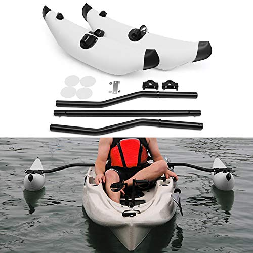 Lixada Kayak Stabilization System, Kayak PVC Inflatable Outrigger Float with Sidekick Arms Rod Kayak Boat Fishing Standing Float Stabilizer System Set