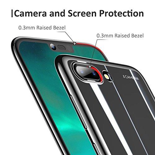 RANVOO Kompatibel mit Honor 10 Hülle, Transparent Silikon Handyhülle Durchsichtig Kratzfest Schutzhülle Slim Flexible TPU Chrome Bumper Cover Crystal Clear Case, 5.84'' (Schwarz) - 4