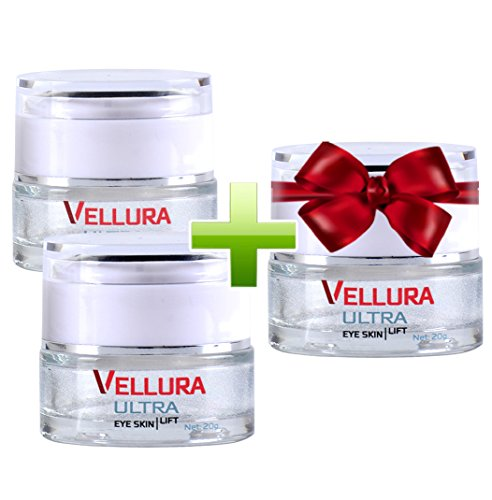 Vellura Ultra - Anti-Falten-Creme für den Augenbereich - 3 Flaschen zum Preis von 2