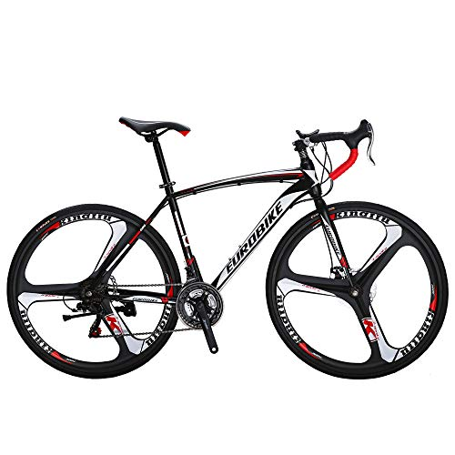 Eurobike Bikes HYXC550 54CM Frame 700C 3 Spoke Wheels 21 Speed Road Bike Dual Disc Brake Road Bicycle
