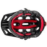 Casco de equitación Ajustable de poliéster Transpirable - Casco de Ciclismo para protección de la Cabeza, Negro y Rojo