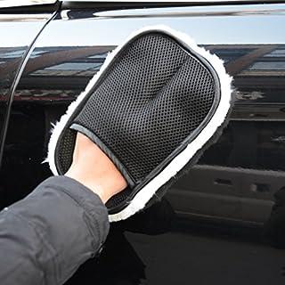 AUNAZZ 洗車 洗車グローブ 楽々ピカピカ 2個セット 自動車用ボディ洗浄用ハンドモップ グローブタイプ ホワイトサイズ:約24cm×約15cm