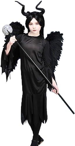 Delights Kinder Kostüm Gothic Queen mit Flügeln Maleficent Style