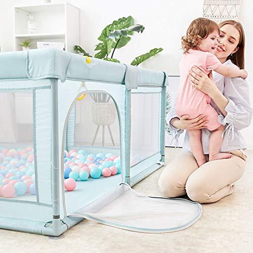 Star Ibaby Oxford XL + Alfombra - Parque de Bebés Ultraligero con Alfombra Ultrasoft - Color Soft Grey