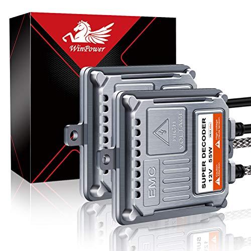 WinPower 55W Wechselstrom (AC) HID-Vorschaltgerät mit CAN-Bus-Super-Decoder Universal für 9006 H11 H8 H9 H5 9005 H1 H3 H4 H7 H13, 2 Stück