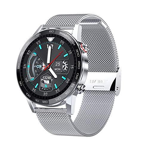 ZGLXZ Smart Watch, Rastreadores De Fitness con Monitor De Ritmo Cardíaco, Empresa Impermeable IP68 Fitness Tracker Stropewatch, Reloj Inteligente para Hombres para Hombres para iOS Android,B