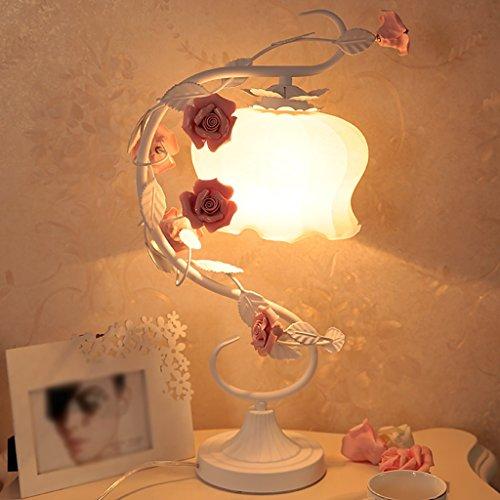 Tafellamp tafellamp strijkijzer warm en romantisch rozet slaapkamer nachtkastje licht