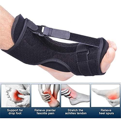 Orthopädische Fußschiene, verstellbar, für Plantarfasziitis, Nachtschiene, atmungsaktiv, Schwarz