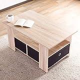 システムK センターテーブル 収納ボックス付 木製テーブル ローテーブル 幅80cm ホワイトウォッシュ