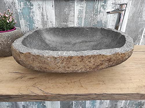 Fregadero de piedra con borde cincelado XL 21 Medida 59 x 46 cm Fotos reales del lavabo lavabo de baño fregadero baño baño de apoyo