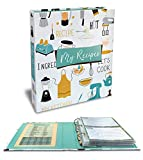 Recipe Binder, 8.5' x 9.5' 3 Ring Binder Organizer Set (with 50 Page Protectors, 100 4' x 6' Recipe Cards & 12 Category Divider Tabs) by Better Kitchen Products, Vintage Kitchen Design
