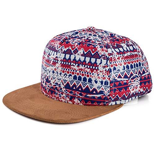 Blackskies Quetzalcoatl Snapback Cap | Damen Herren Baseball Mütze Kappe Basecap Bunt Suede Azteken Native
