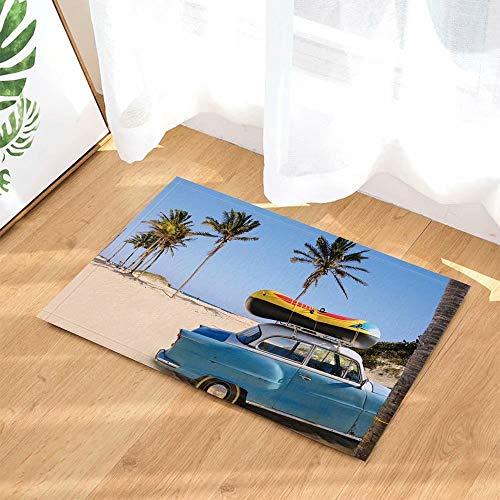 Schilderachtig ingerichte strandvakantie resortauto met rubberboot Kinderbadkamer tapijt toiletdeur mat woonkamer 40X60CM badkameraccessoires