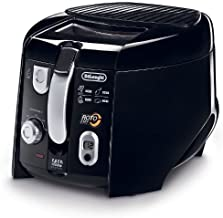 Delonghi COOL-TOUCH Electric Deep Fryer with All NEW Tilted Rotating Basket, Features Adjustable Thermostat and Digital Timer & Easy Clean Oil Drain System by DeLonghi