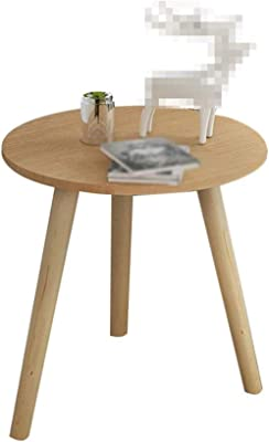 LF- Small Coffee Table Round Coffee Table Low Table Creative Wood 35 * 42cm / 40 * 42cm Chic (Color : Wood Color, Size : 35 * 42cm)