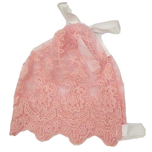 Youmei ® 1pc Baby Cap Princess brodé Bow Dentelle Bretelles Belle Photographie Chapeau Filles-Rose