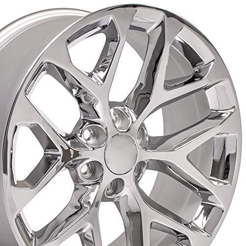 OE Wheels LLC 22 inch Rim Fits Chevy Silverado Snowflake Wheel CV98 22x9 Chrome Wheel Hollander 5668