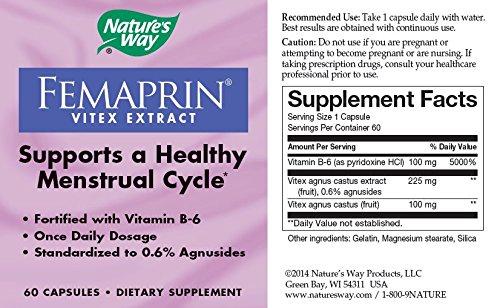 Nature's Way Femaprin (Vitex), 60 Capsules