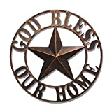 26' God Bless Our Home Texas Metal Barn Wall Decor Western Iron Vintage Decoration for Home kitchen