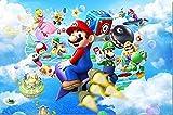 Personalizzato Decorazione Della parete Della Tela Mario Party Island Tour Poster Super Mario Bros Wallpaper 3D Adesivi per finestre Kids Bedroom Decals,350x256cm/3XL