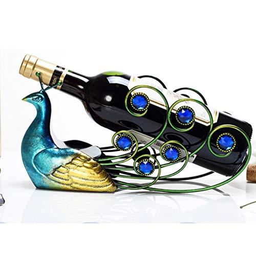 ZHJDX Decoración de Vino Decoración Luz de Alta Gama Decoración de Vino Botella de Vino Botella de Vino Rack Personalidad Hogar Rack Creative Exhibir Rack Industry