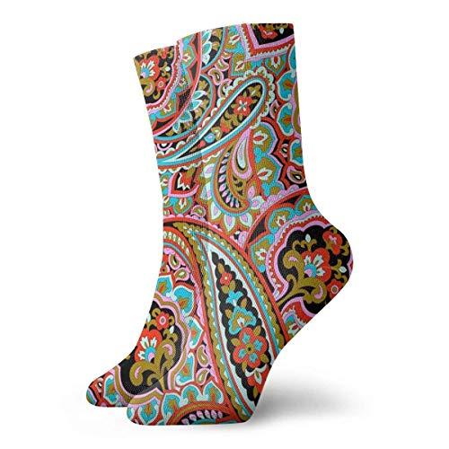 AEMAPE Calcetines Ocasionales Jamón Colorido Impreso Deporte Calcetines Deportivos Calcetines de compresión Calcetines de Equipo Calcetines de Tobillo