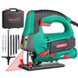 Jigsaw, 800W Max Cutting Depth 110mm for Wood, 800-3000SPM HYCHIKA...