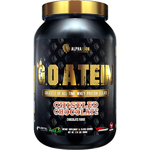 Alpha Lion G.O.A.T.EIN Whey Protein Isolate 1.76 Lbs. Chiseled Chocolate