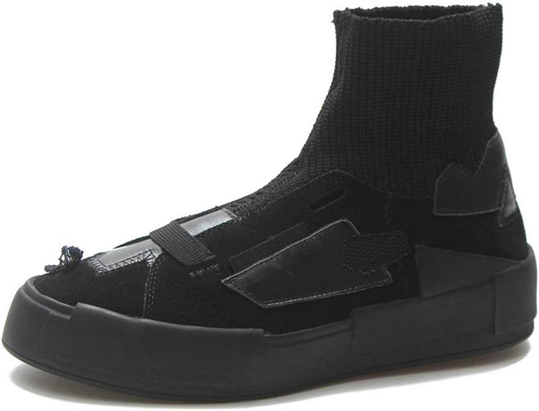 BMTH Women Platform Ankle Boots Comfort Footwear Flat Heels Short Bootie Leisure Slip On Western Boots