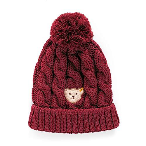 Steiff Baby-Mädchen Hat Mütze, Rot (BEET RED 4010), 49 (Herstellergröße:49)