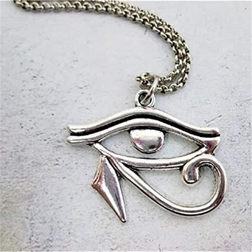 VAWAA Collar de Ojo Collar de Ojo de Horus Diosa egipcia Protección del Tercer Ojo Amuleto Antiguo Ojo de Ra Collar Joyería de Mal de Ojo