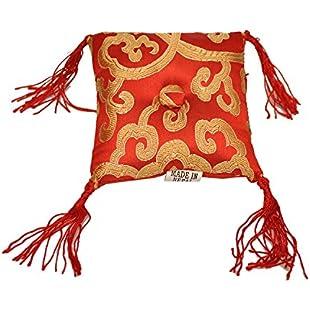 Tibetan Singing Bowl Cushion (Red):Maskedking